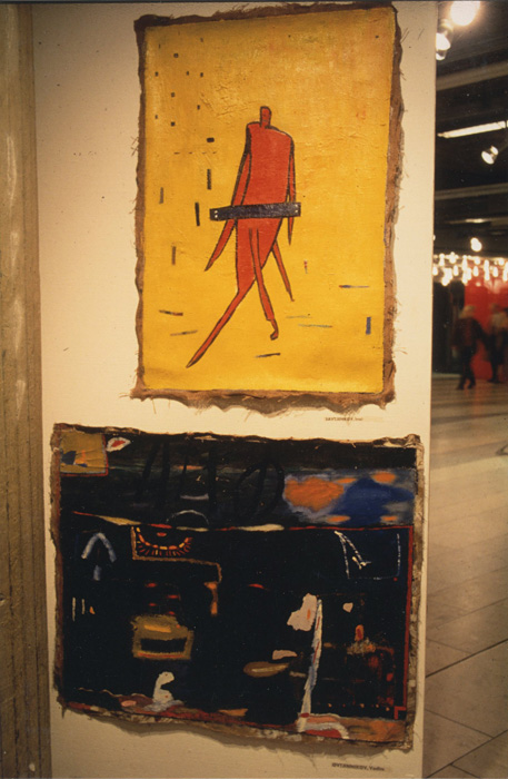 Kulturhuset, The New from Leningrad 1988,Top: painting by Inal Savchenkov Bottom: painting by Vadim Ovchinnikov